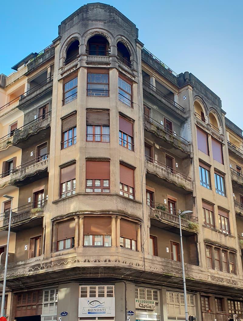 Rehabilitación en Secundino Esnaola 20 - Donostia antes de las obras de innoETICS